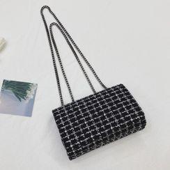 Mercillia - Chain Tweed Crossbody Bag