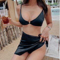 Salanghae - Set: Plain Bikini + Cover Up