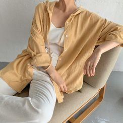 FROMBEGINNING - Hooded Long-Sleeve Shirt