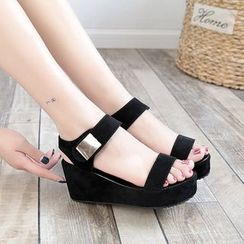 Tania - Platform Wedge Slingback Sandals