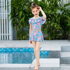 Charmaine - Kids Swim Top / Swim Skirt / Swimsuit / Swimming Cap / Set