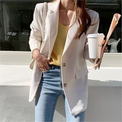 Ontheriver - Single-Breasted Loose-Fit Jacket