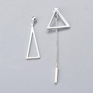 A'ROCH - 925純銀不對稱三角耳墜