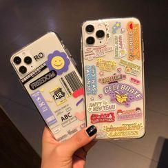 Huella - Label Phone Case For iPhone SE / 7 / 7 Plus / 8 / 8 Plus / X / XS / XR / XS Max / 11 / 11 Pro / 11 Pro Max