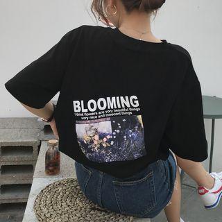 LINSI - Camiseta holgada estampada