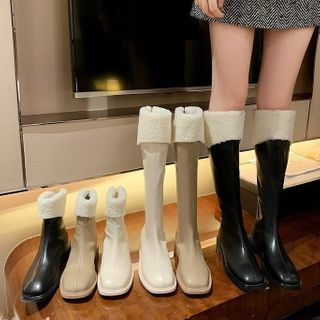 Weiya - Fleece Panel Tall / Short Boots