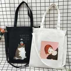 Woodword - Print Two-Way Canvas Tote Bag (Various Designs)