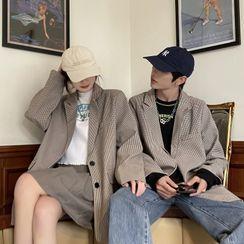 Bay Go Mall - Couple Matching Plaid Blazer