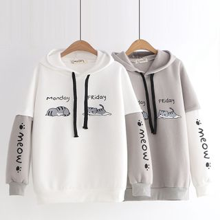 Cat Planet - Colored Panel Cat Hoodie