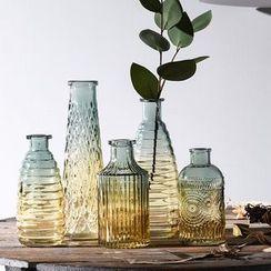 Accueil - Vase en verre gaufré dégradé (différents modèles)