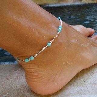 Yeoleum - Turquoise Bead Anklet