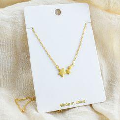 Wellhem - 925 Sterling Silver Star Necklace