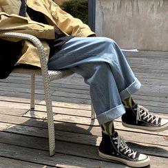 CooLook - Crop Wide Leg Jeans