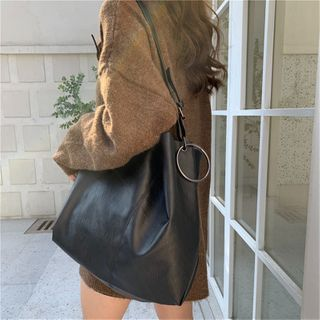 TZ(ティーゼット) - Faux Leather Tote Bag