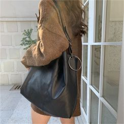 TZ - Faux Leather Tote Bag