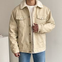 Seoul Homme - Dumble-Collar Boxy Trucker Jacket