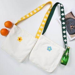Geolte - Flower Print Crossbody Bag