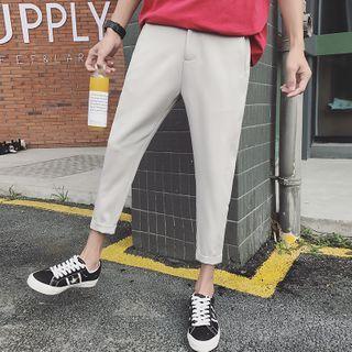 SZU - High-Waist Slim Fit Cropped Pants