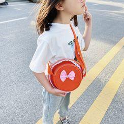 Trendy Spot - 小童蝴蝶结装饰圆形斜挎包