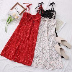 Babique - Floral Sleeveless Mini Dress