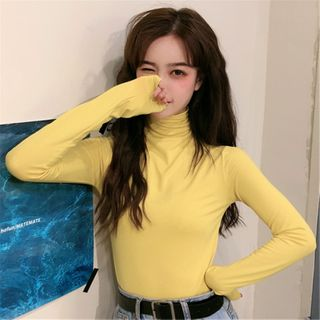 Mushini - Long-Sleeve Turtleneck Top