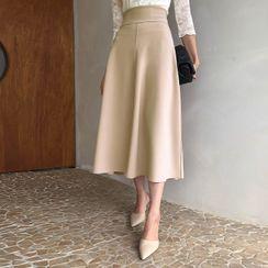 DABAGIRL - Paneled Maxi Flare Skirt