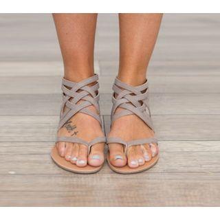 Tania - Back Zip Roman Sandals