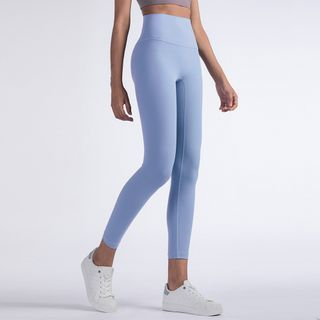 Idonus - Plain High-Waist Yoga Pants