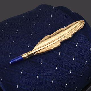 Seaton - 羽毛合金領帶夾