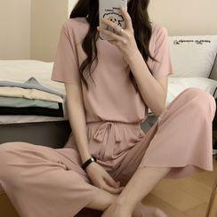 Closette - Short-Sleeve Plain Pajama Set