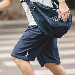 Maden - Drawstring Wide-Leg Sweatshorts