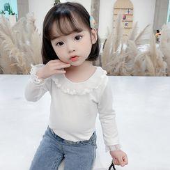 Ohori - 小童长袖网纱拼接T裇