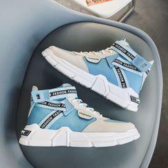 YERGO - 字母繫帶厚底休閒鞋