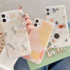 Aion - Gold Leaf Stone Print Phone Case - iPhone 12 Mini / 12 / 12 Pro / 12 Pro Max / 11 / 11 Pro / 11 Pro Max / X / XS / XR / XS Max / 8 / 8 Plus / 7 / 7 Plus