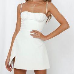 Sundine - Strappy Plain A-Line Dress