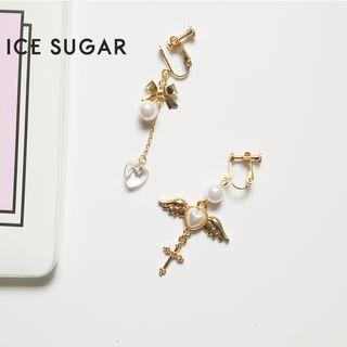 ICE SUGAR - Asymmetrical Faux Pearl Drop Earring