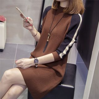 Tiny Times - Long-Sleeve Knit Shift Dress