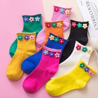 Cloud Femme - Flower Detail Socks