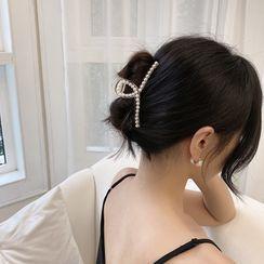 Show Mind - 仿珍珠发爪夹