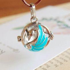 Nisen - Swan Copper Fragrance Sachet Pendant Necklace