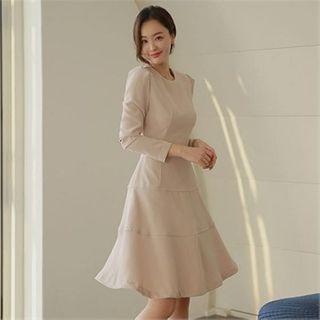 Styleberry - Tiered A-Line Dress