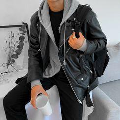 MRCYC - Faux Leather Biker Jacket