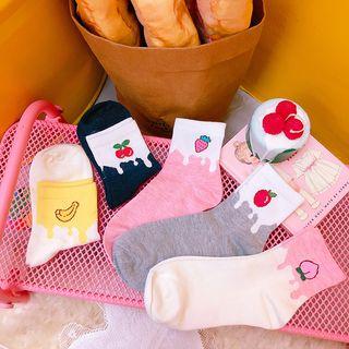 Yunikon - 水果刺繡襪子