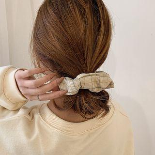 Oohlala! - Plaid Schrunchie Hair Tie