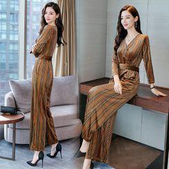 ROAM - Striped Velvet Jumpsuit