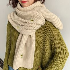 FROME - Embroidered Knit Scarf