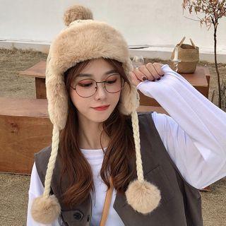 FROME - Faux Fur Knit Earflap Hat