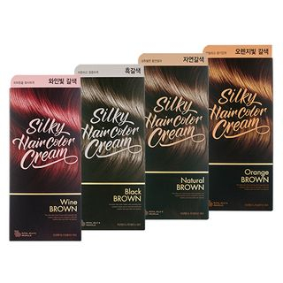 THE FACE SHOP - Stylist Silky Hair Color Cream - 7 Colors