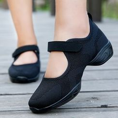 Danceon - Mesh Panel Mary Jane Dance Shoes