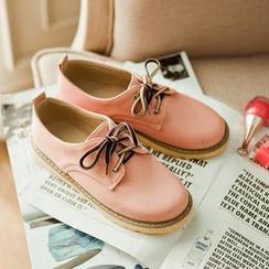 Colorful Shoes - Contrast-Color Lace-Up Shoes